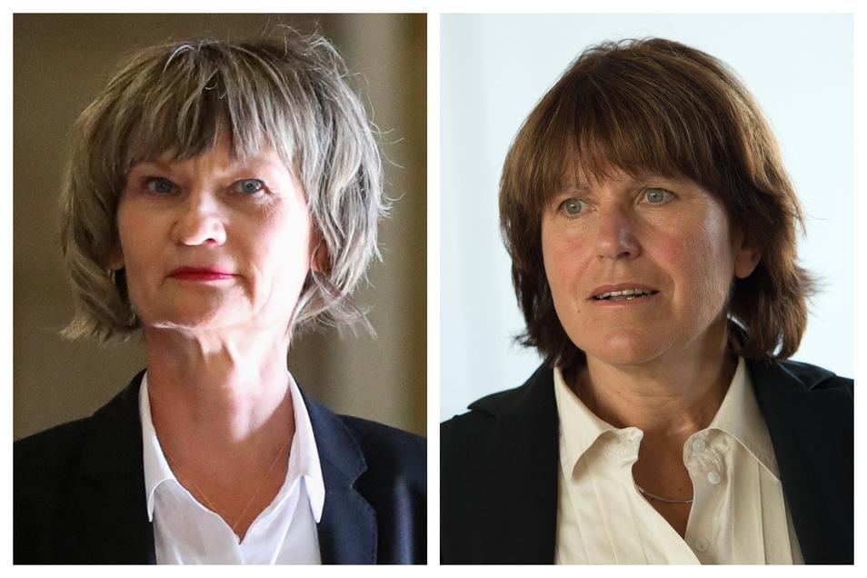 Am Sonntag sind OB-Wahlen in Chemnitz und Zwickau. Barbara Ludwig (l.,SPD) und Pia Findeiß (SPD) werden dann ihr Amt abtreten.
