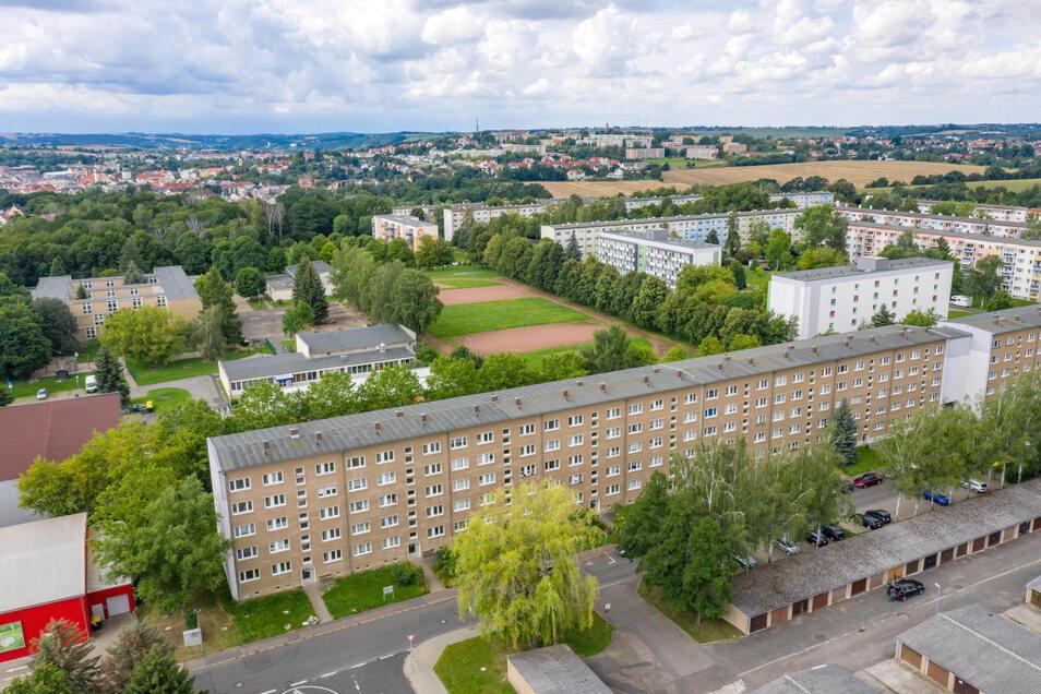 Voraussichtlich im September lässt die WG Fortschritt zwei Häuser in diesem Wohnblock an der Unnaer Straße umfassend umbauen und mit Balkonen und Aufzügen ausstatten.