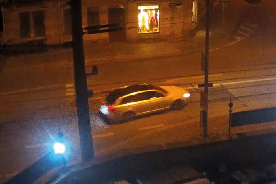 Mit diesem Wagen sind die Räuber geflüchtet, nachdem sie Juwelen aus dem Grünen Gewölbe geholt hatten.