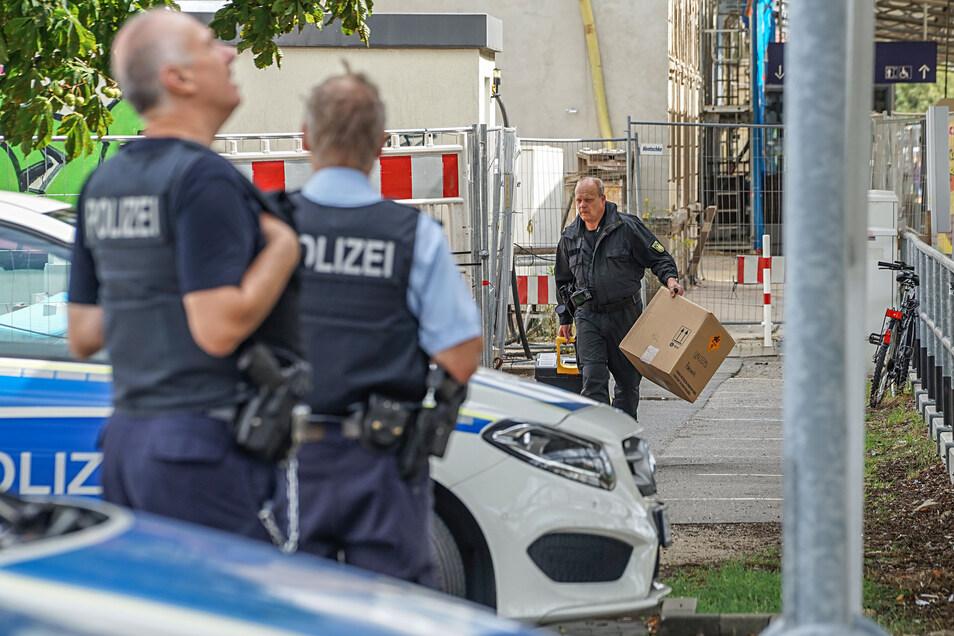 Polizeieinsatz am Bahnhof Bautzen.