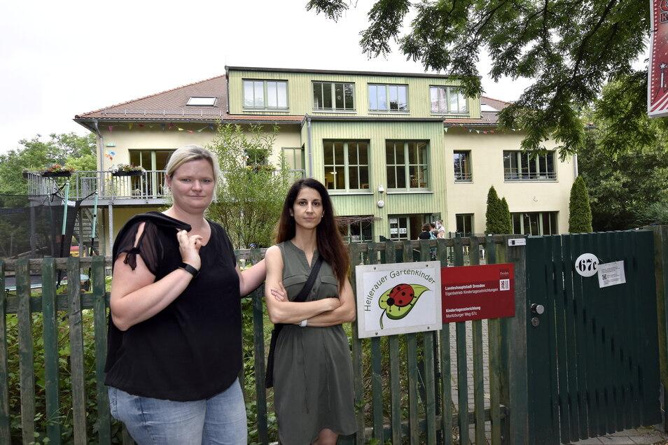 Die Kita Hellerauer Gartenkinder soll Ende 2024 geschlossen werden. Für Hellerauer Mütter wie Anja Weidlich und Galina Ruppert ist das nicht nachvollziehbar.