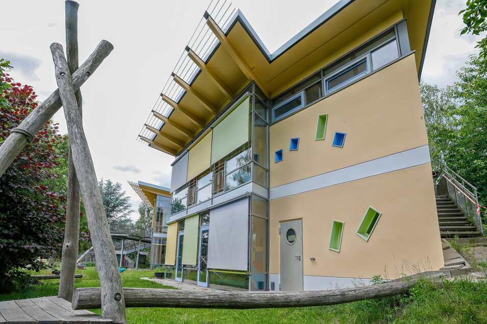 Ostritz hat schöne Kindereinrichtungen so wie hier das deutsch-polnische Kinderhaus.