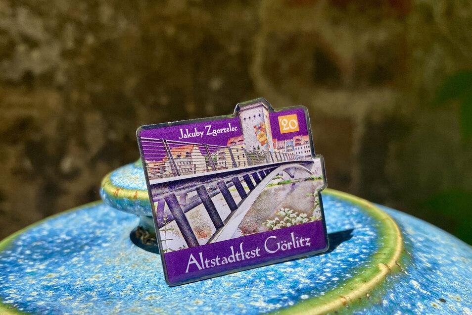 So sieht der Altstadt-Pin dieses Jahres aus.