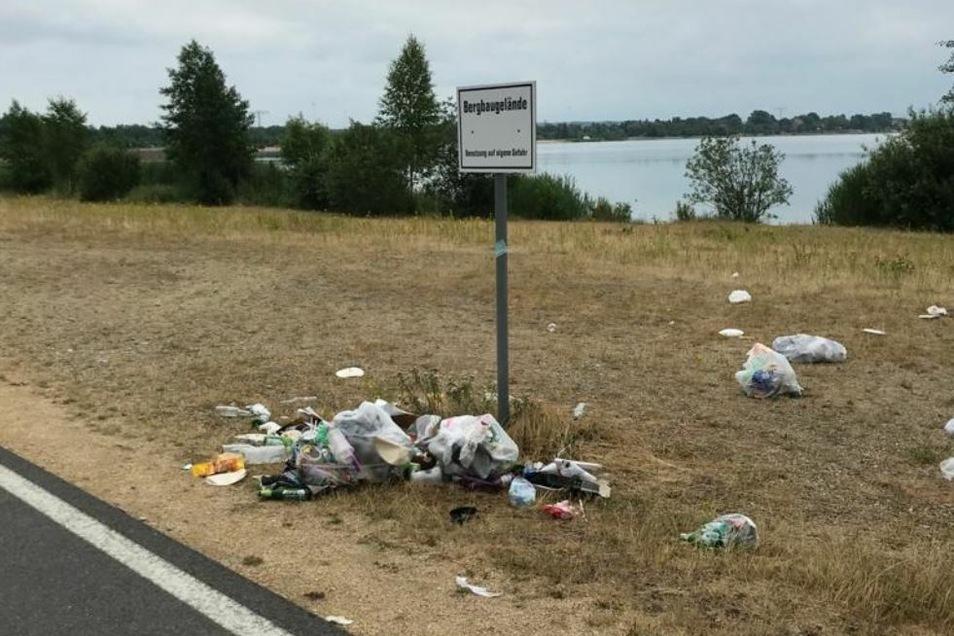 Jedes Jahr aufs Neue Thema: die Hinterlassenschaften am Berzdorfer See.