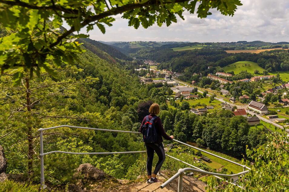 Der Müglitzhang bei Schlottwitz ist kein großes Naturschutzgebiet, bietet aber viele Rastplätze und weite Blicke ins Osterzgebirge.
