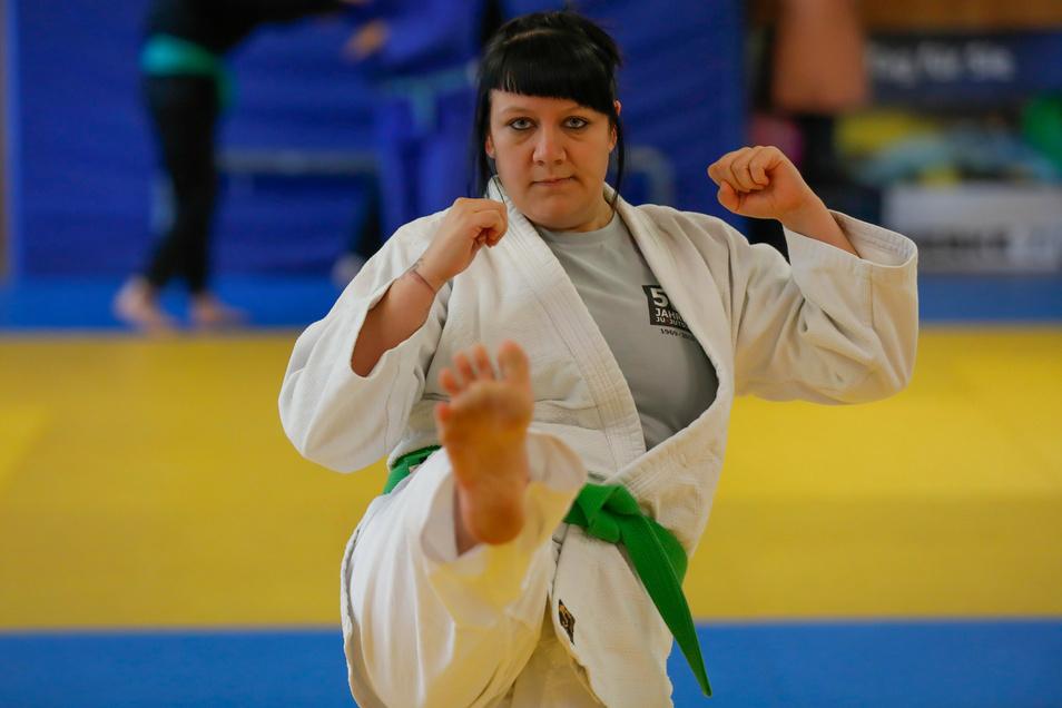 Anna Vater, Ju-Jutsu Trainerin bei der HSG-Turbine Zittau, gibt Kurse für Gewalt- und Missbrauchsprävention.