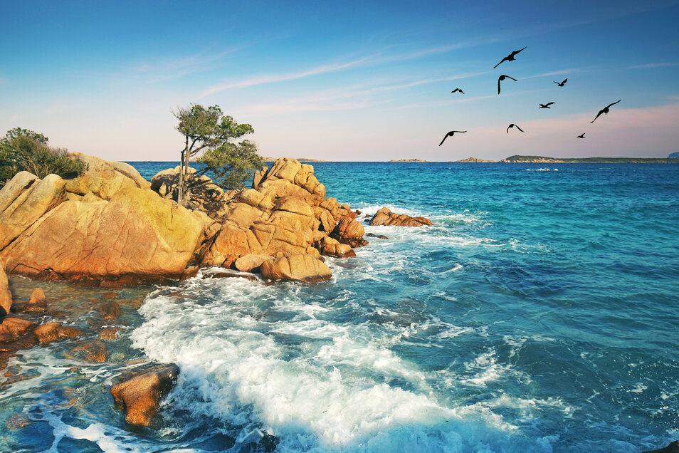 Wilder Strand auf der Insel