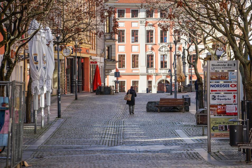 Die Reichenstraße - normalerweise eine Anziehungspunkt für Bummler - ist am Montag menschenleer.