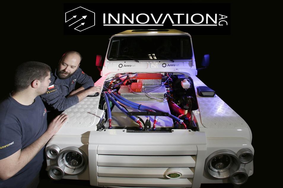 Die Firma Innovation AG aus Zgorzelec hat einen elektrischen Lieferwagen entworfen und träumt von der Serienproduktion. Auf dem Foto ist ihr erstes E-Auto mit Allradantrieb von 2018 zu sehen.