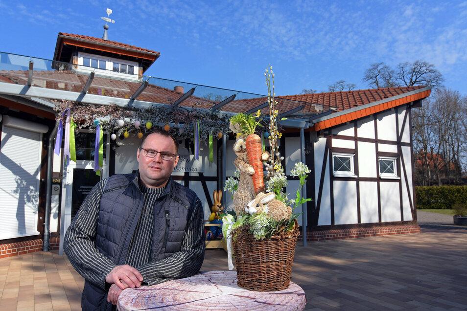 Lars Lemke im Bürgergarten Döbeln. Der Lokalbesitzer wird das Osterfest 2020 nicht so schnell vergessen.