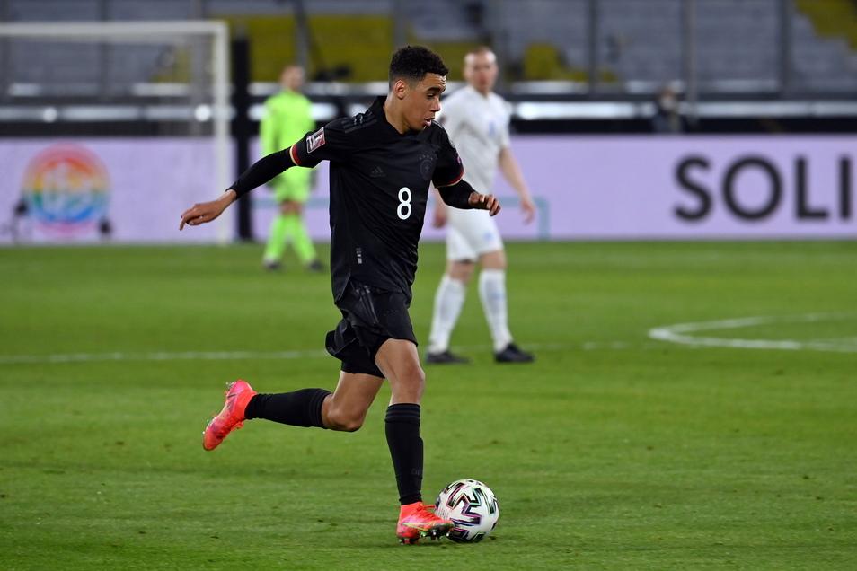 Gan sein Debüt für Deutschland: Bayern-Youngster Jamal Musiala.