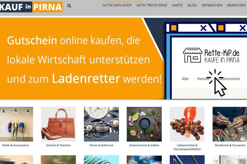 Gutscheinportal in Pirna: Hilfe für Händler in der Krise.
