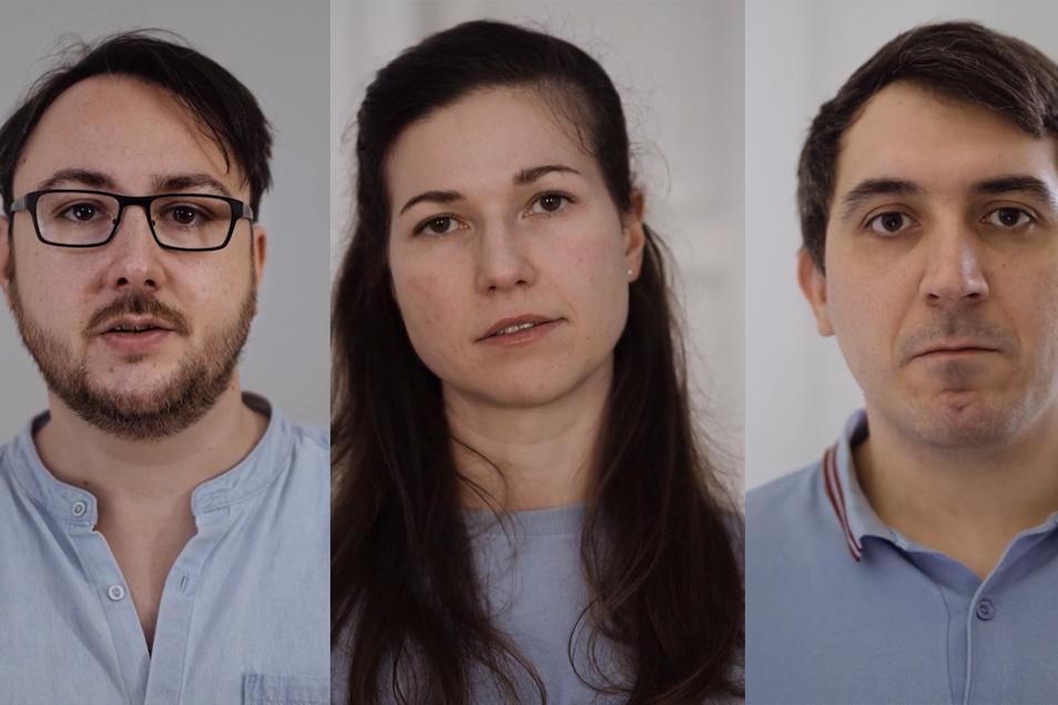 Performer*innen der Theatralen Subversion: Michael McCrae, Romy Weyrauch und Alexander Bauer