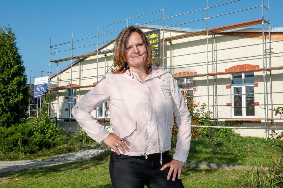 Kerstin Siede baut die ehemalige Knöpferei in Neusalza-Spremberg zu einer Tagespflege für Senioren um.