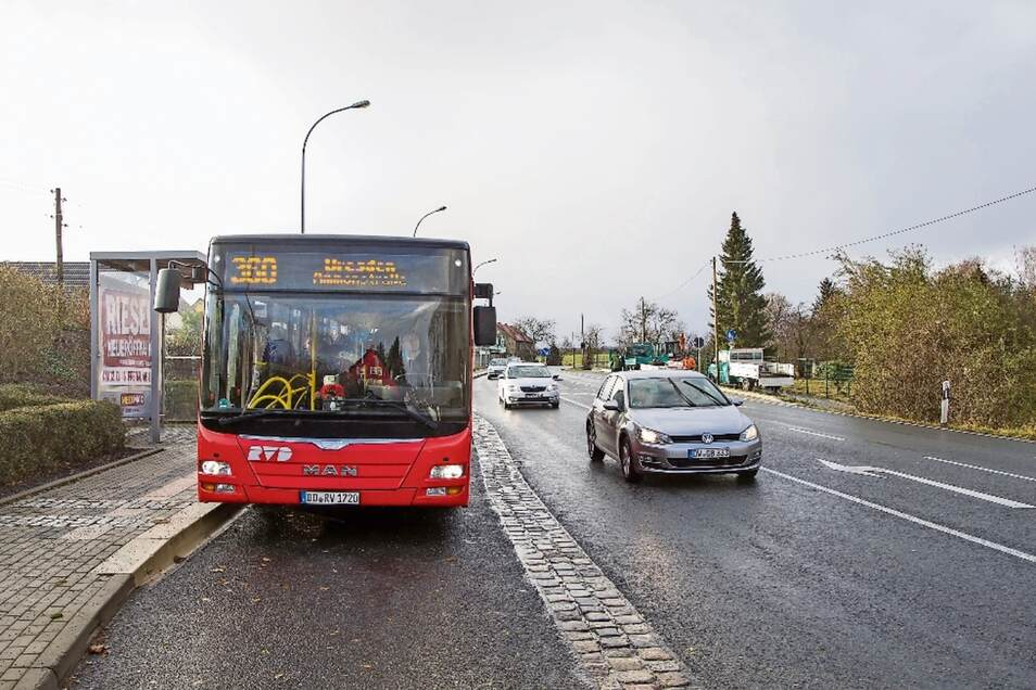 Die Buslinie 360 durch Bannewitz ist sehr stark frequentiert. Die Anbindung der Linie nach Dresden soll in Zukunft noch verbessert werden.