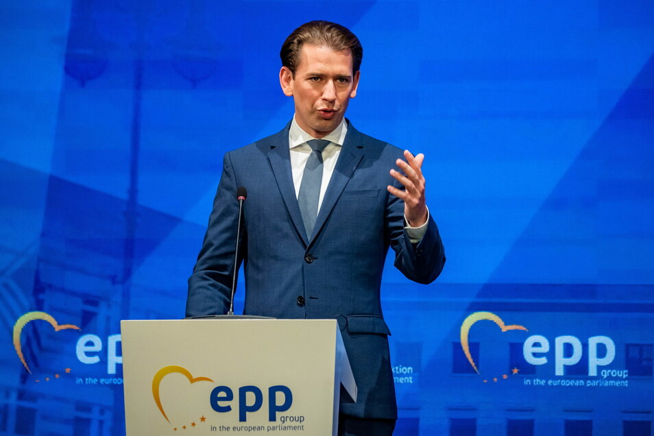 Österreichs Bundeskanzler Sebastian Kurz warnt vor einem Linksbündnis in Deutschland nach der Bundestagswahl.