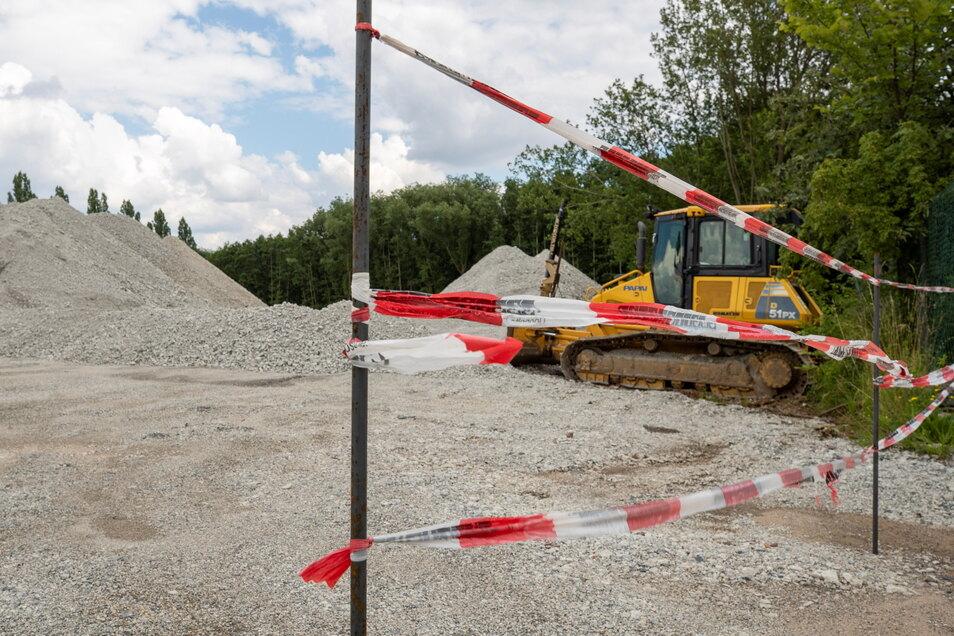 In Kesselsdorf wird der Abbruchbeton von der A17 wiederverwertet - ohne Genehmigung.
