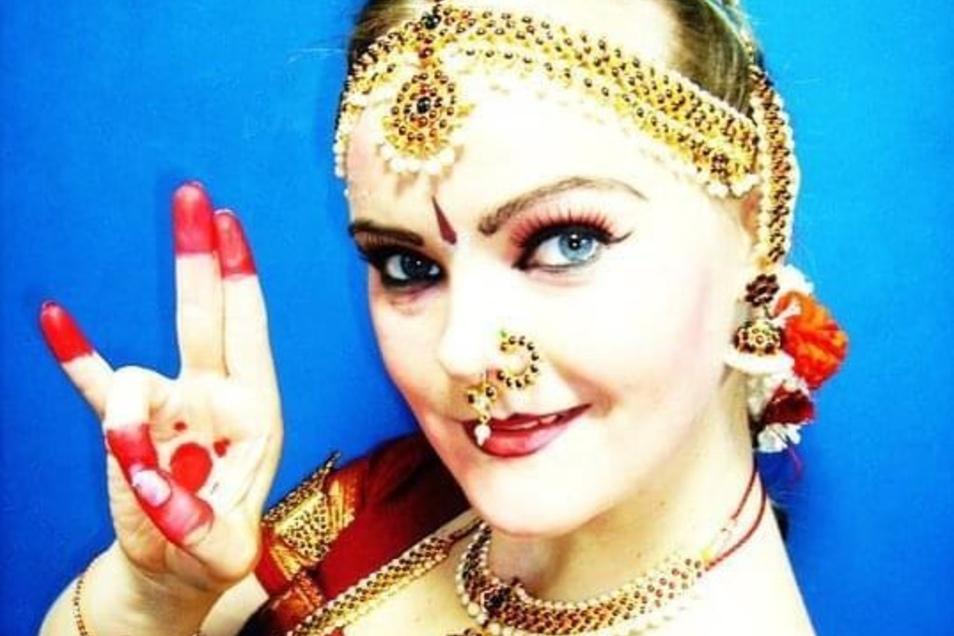 Für ihr eigenes Musical schlüpfte Julia Klesse noch einmal in die Rolle als indische Tänzerin.