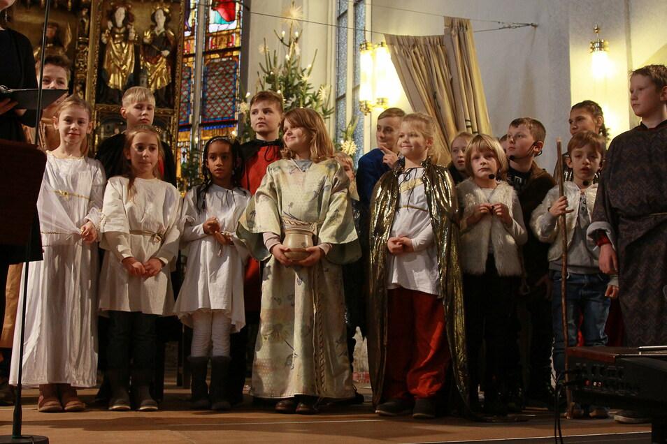 Die Kirchgemeinden Döbeln und Jahnatal verzichten in diesem Jahr auf ein Krippenspiel, wie 2019 in der Döbelner Nikolaikirche.