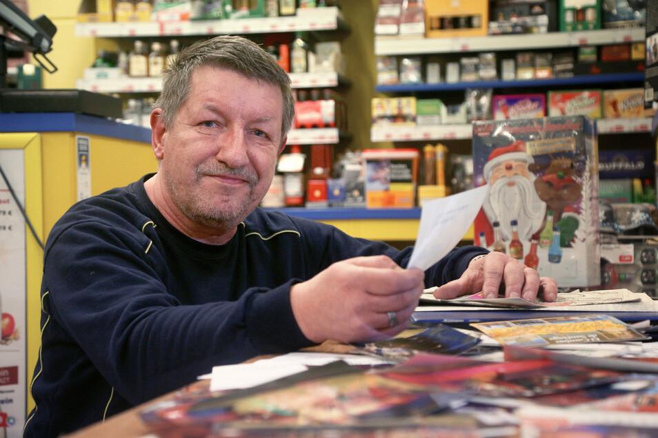 Vom Diskochef zum Einzelkämpfer: Frank Rehm betreibt heute den Getränkemarkt an der B 182 in Strehla. Früher leitete er das Prince im Riesapark. Dort hätten an manchen Abenden 50 Leute gearbeitet