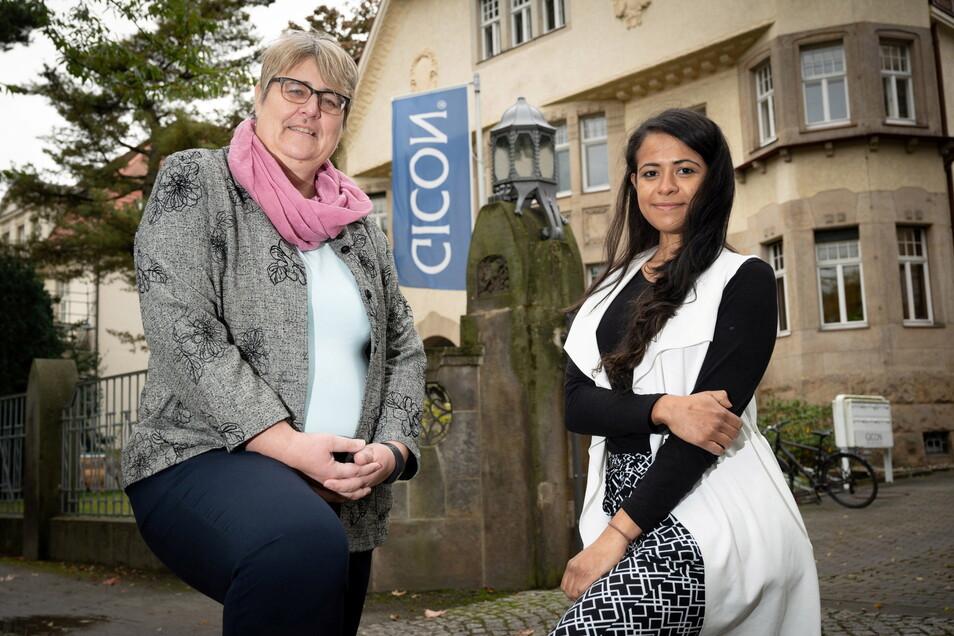 Gicon-Geschäftsführerin Annett Schröter ist froh, dass sich Loany Guzmann für ihr Unternehmen entschieden hat.