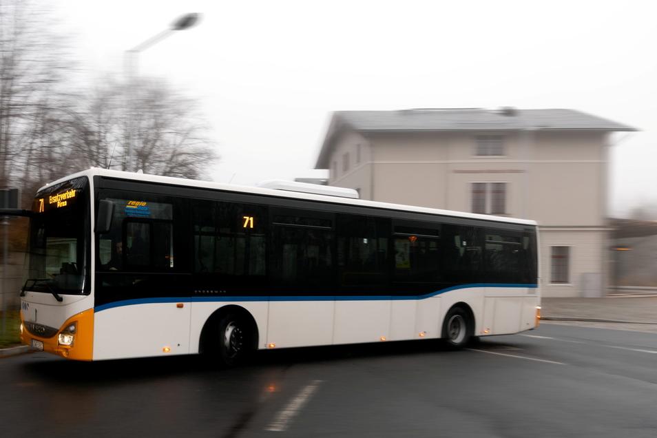 Auf einem Teil der Bahnlinie RB71 Pirna-Neustadt-Sebnitz fahren am 23. September nur Busse.