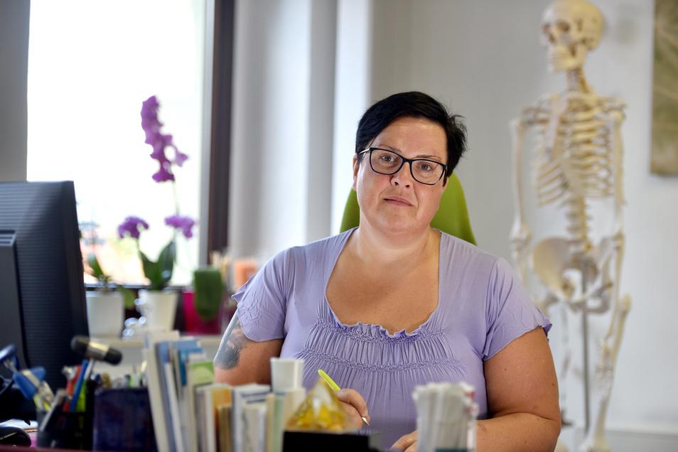 Kyra Ludwig, Fachärztin für Neurologie, gibt ihre Praxis in Seifhennersdorf auf und fängt neu an.