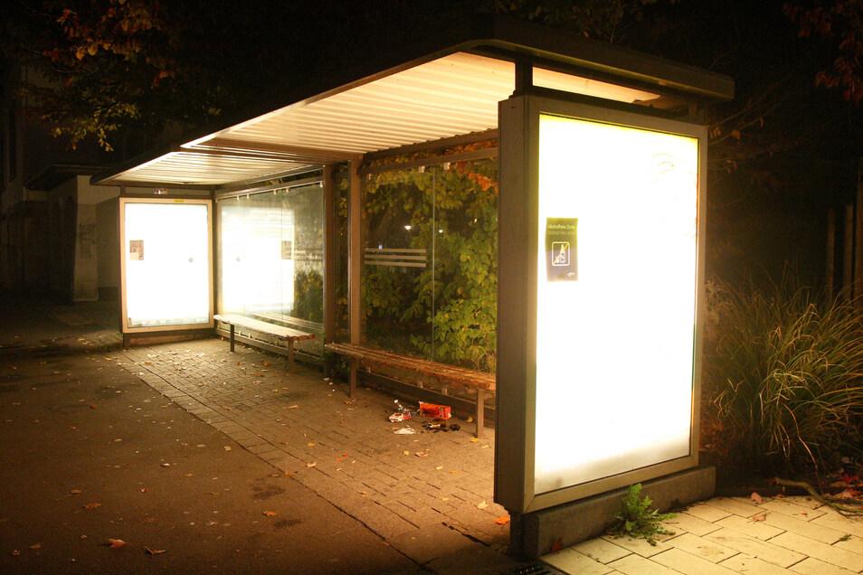 So eine schicke Buswartehalle wird im Dörfchen Böhla b.O. nicht als vordringlich erachtet, obwohl es dafür Förderung gibt.