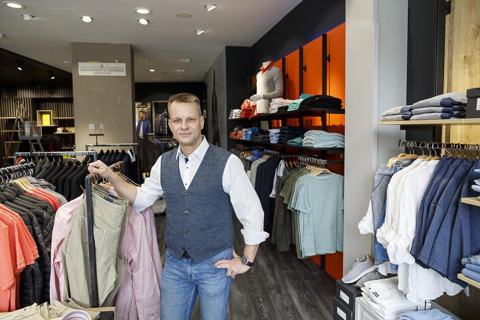 Auch Georg Schwind öffnet sein Modehaus in Görlitz ab Montag für Kunden mit vorheriger Terminbuchung.