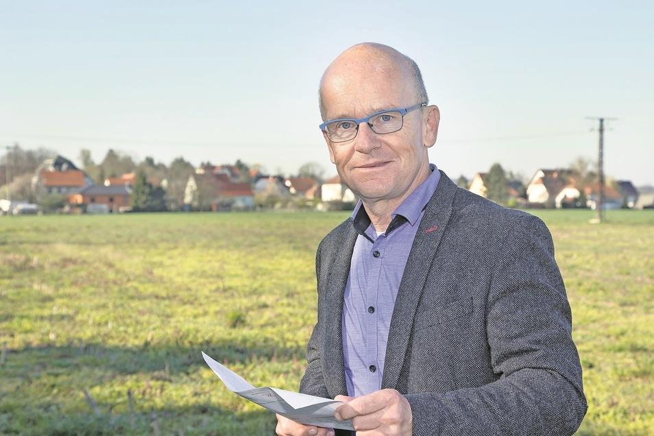 Andreas Clausnitzer leitet den Abwasserzweckverband Wilde Sau. In den nächsten Jahren will er das zentrale Entsorgungsnetz auf Kleinopitz ausweiten.