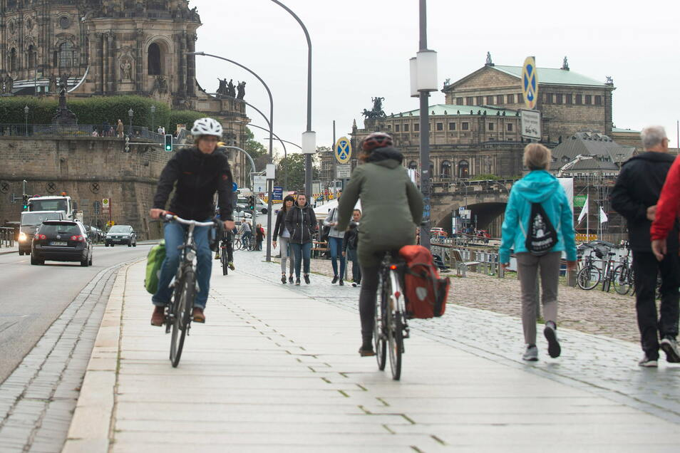 Besonders in Dresden sind mehr Menschen auf das Rad umgestiegen.
