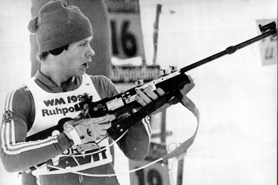 Doppel-Olympiasieger Frank-Peter Roetsch war der erfolgreichste Biathlet von Dynamo Zinnwald.