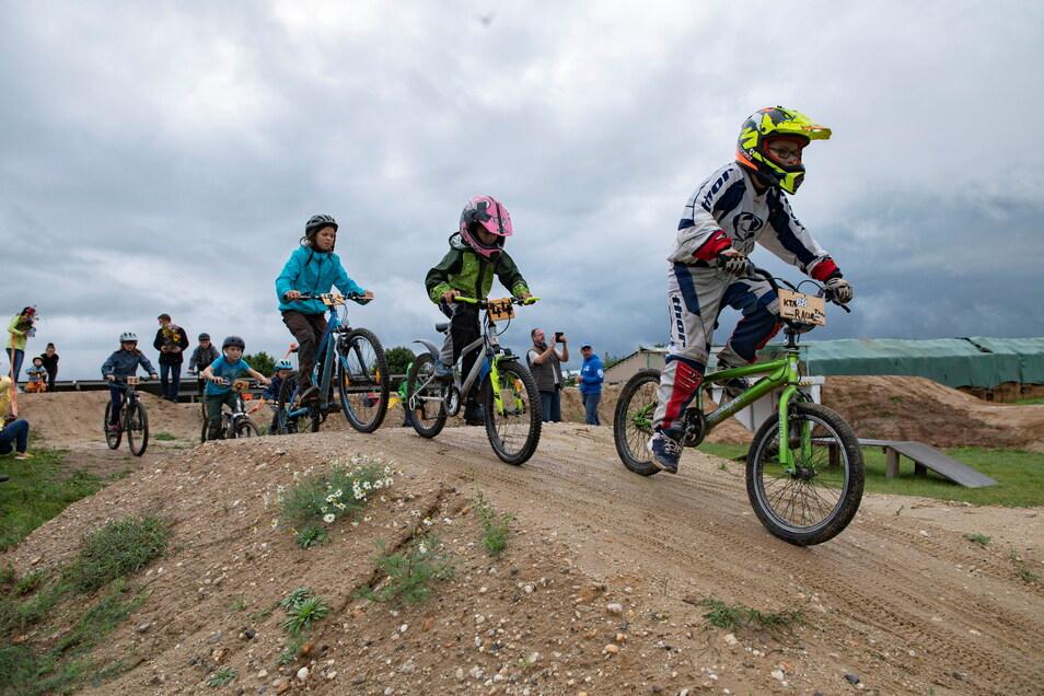 Die neue Fahrrad-Crossstrecke in Uebigau.