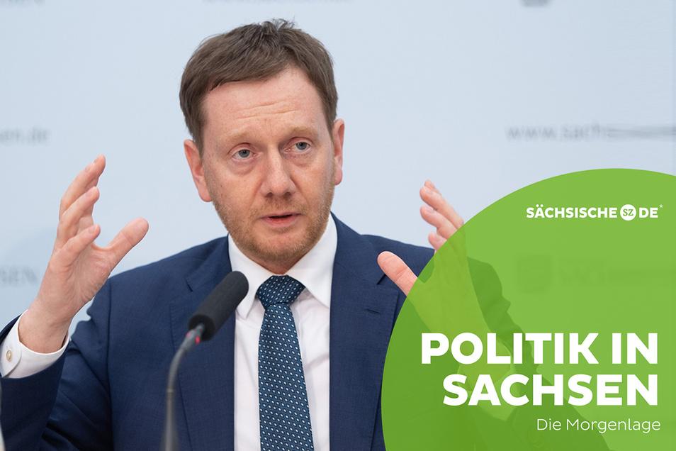 Regierungschef Michael Kretschmer hat sich mit einem Brief an die Sachsen gewandt.