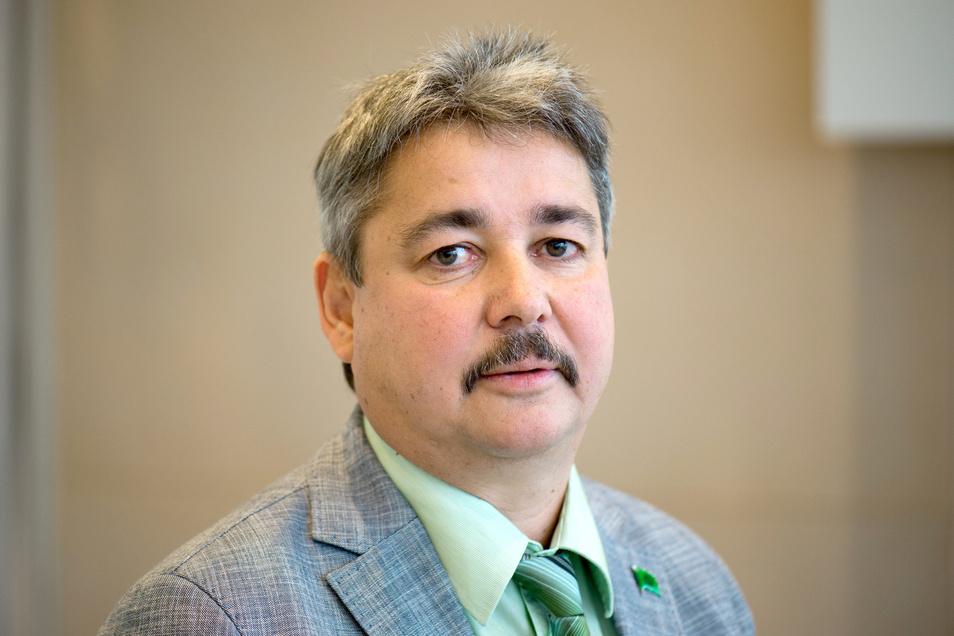 Der Vorsitzende der Gewerkschaft der Polizei (GdP) Sachsen, Hagen Husgen.