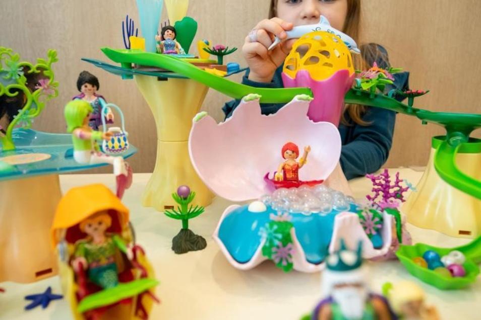 Spielen mit dem Korallenpavillon von Playmobil. Das Spielzeug gehört zu der vom BVS herausgegebenen Liste der «Top 10 Spielzeuge 2019».