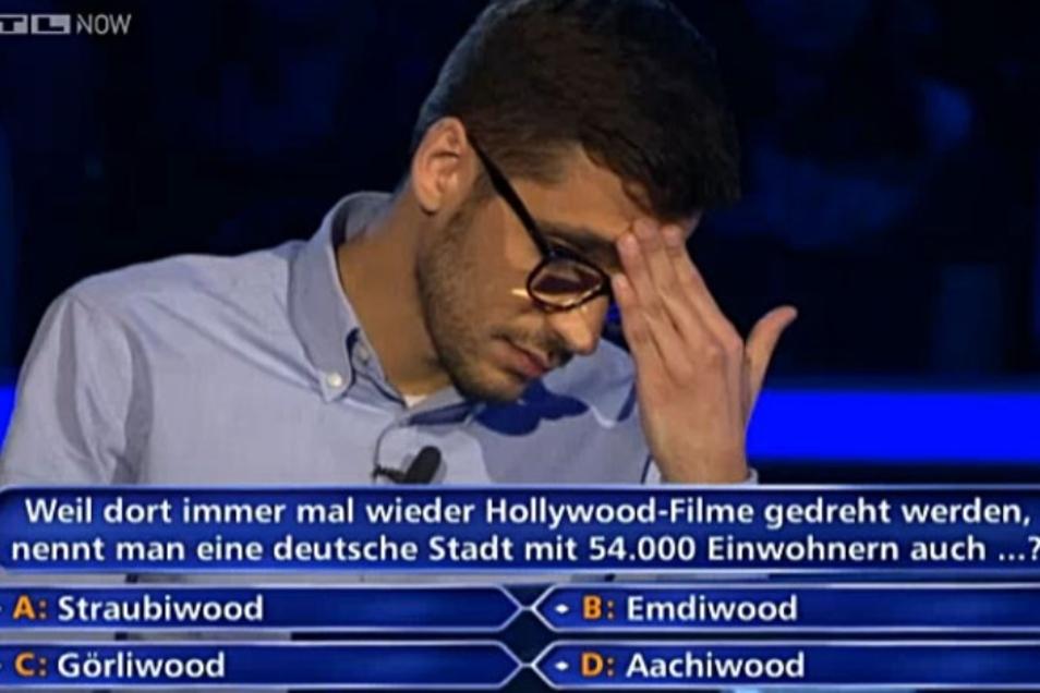 """Bei """"Wer wird Millionär"""" wurde nach Görliwood gefragt."""