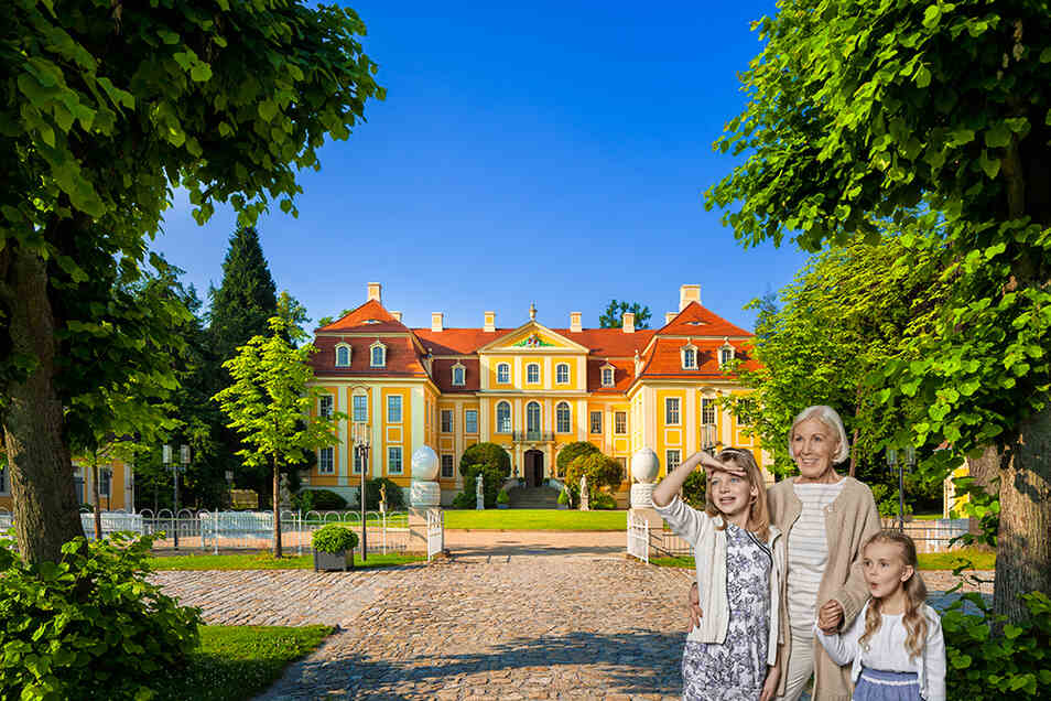 Auf Schloss Rammenau hat man gute Aussichten auf Erholung.