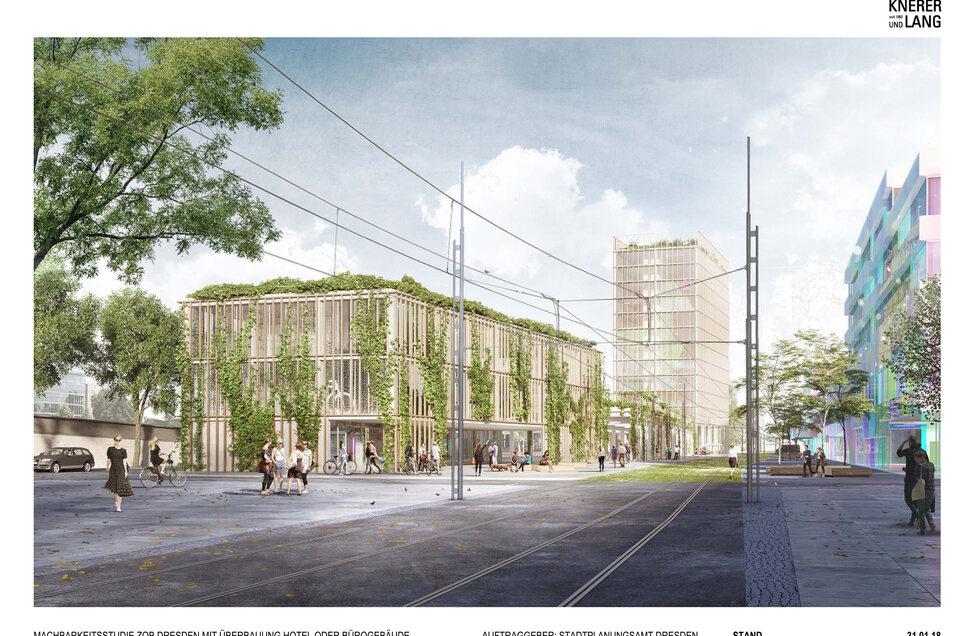So soll der neue Komplex am Wiener Platz laut einer Machbarkeitsstudie von 2018 aussehen.