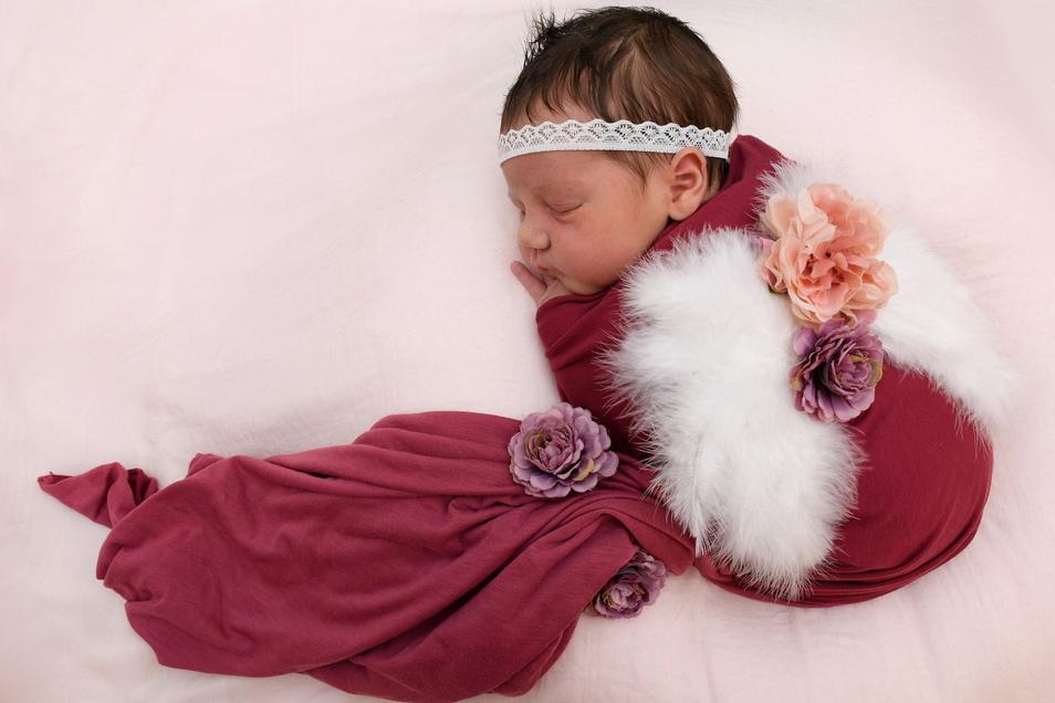 Palina, geboren am 16. Mai, Geburtsort: Freital, Gewicht: 3.660 Gramm, Größe: 53 Zentimeter, Eltern: Linda und Manuel Schramm, Wohnort: Rabenau