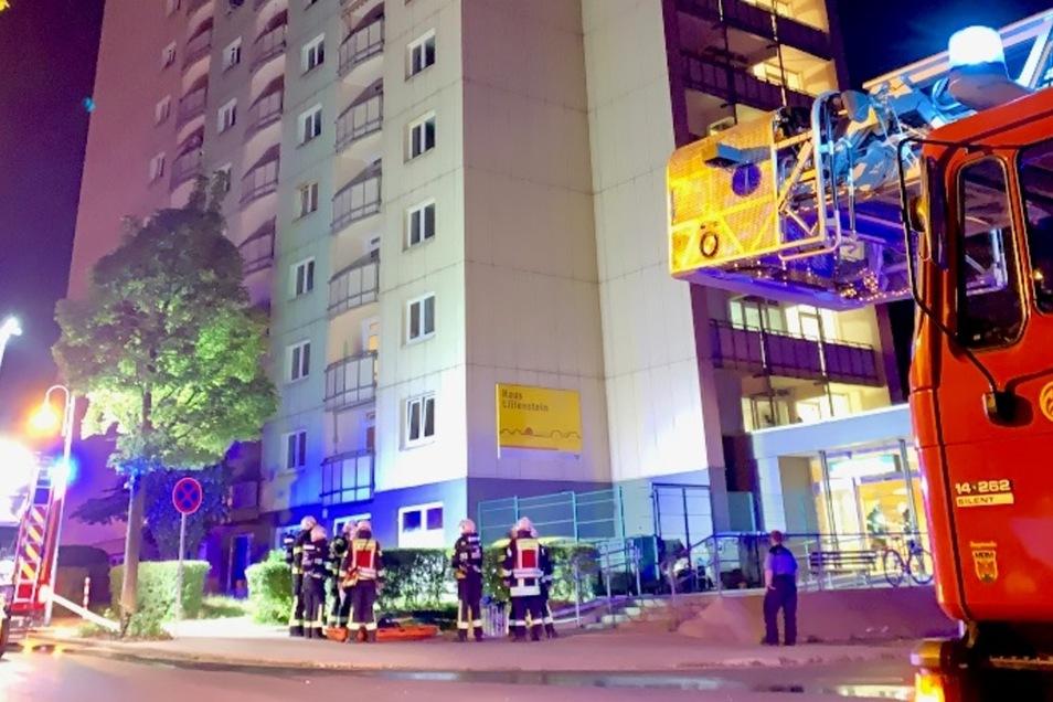 Großeinsatz der Feuerwehr auf dem Sonnenstein am  frühen Sonnabend.