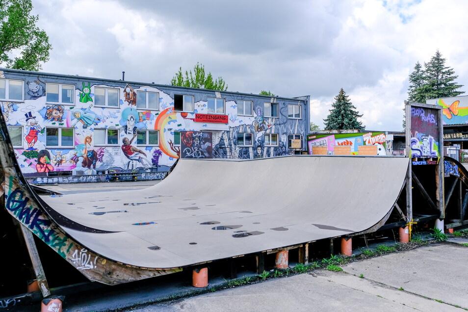 Der Jugendtreff Skateranlage am Weißen Haus Serkowitz ist beliebt.
