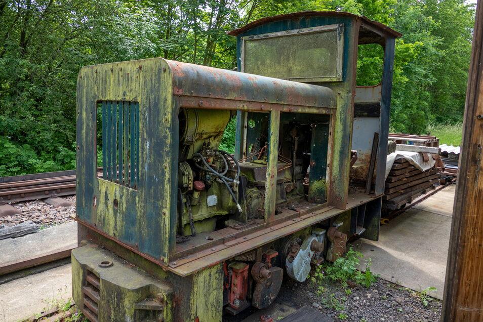 Die eine oder andere alte Lokomotive benötigen die Kleinbahner für die Ersatzteilgewinnung.
