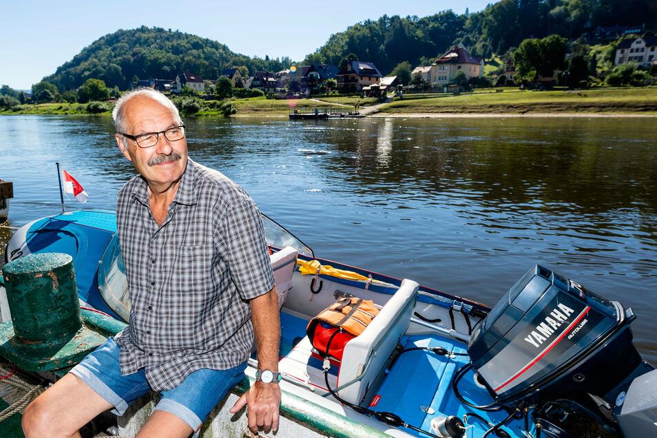 """""""Er war kurz vor dem Ertrinken."""" Der Urlauber und einstige Rettungssanitäter Ingo Ulrich half, den verunglückten Paddler aus der Elbe zu ziehen."""