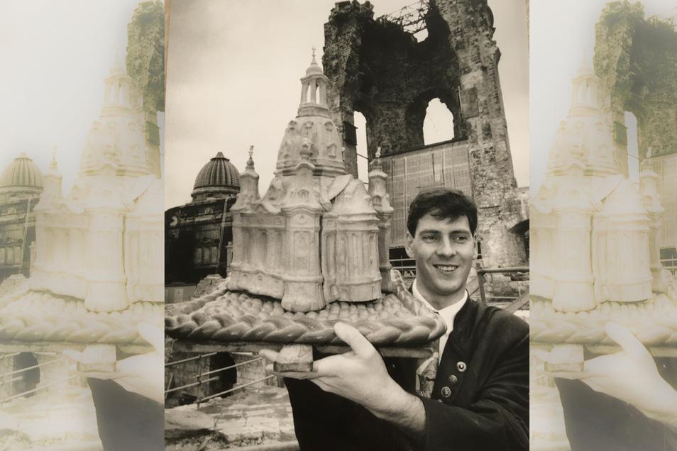 1994 zauberte der damals 26-Jährige Bäcker Matthias Walther schon einmal eine Frauenkirche.