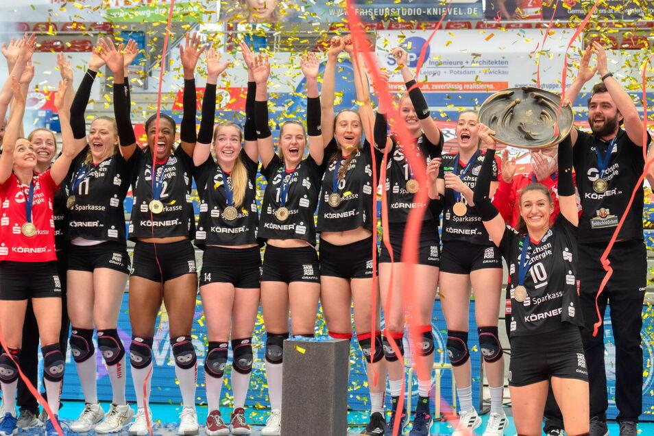 Der DSC ist die Nummer eins. Die Volleyballerinnen holten ihren sechsten Meistertitel.