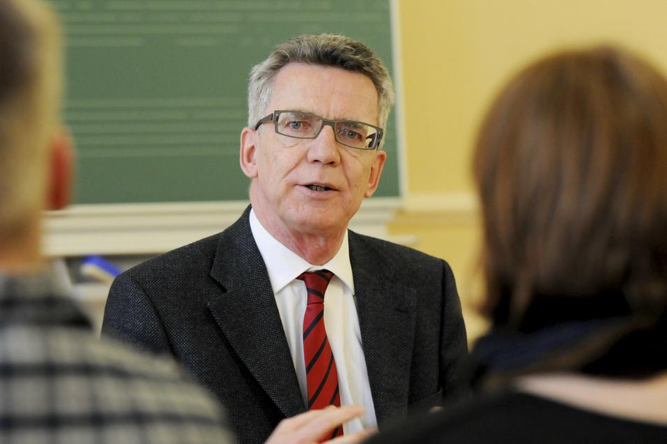 Hört auf: Der CDU-Politiker Thomas de Maizière tritt 2021 nicht mehr an.