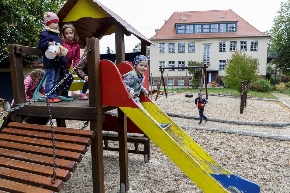 Natürlich sind auch die Kitas in den Görlitzer Ortsteilen von der Gebührenerhöhung betroffen - im Bild die Kindertagesstätte in Ludwigsdorf.