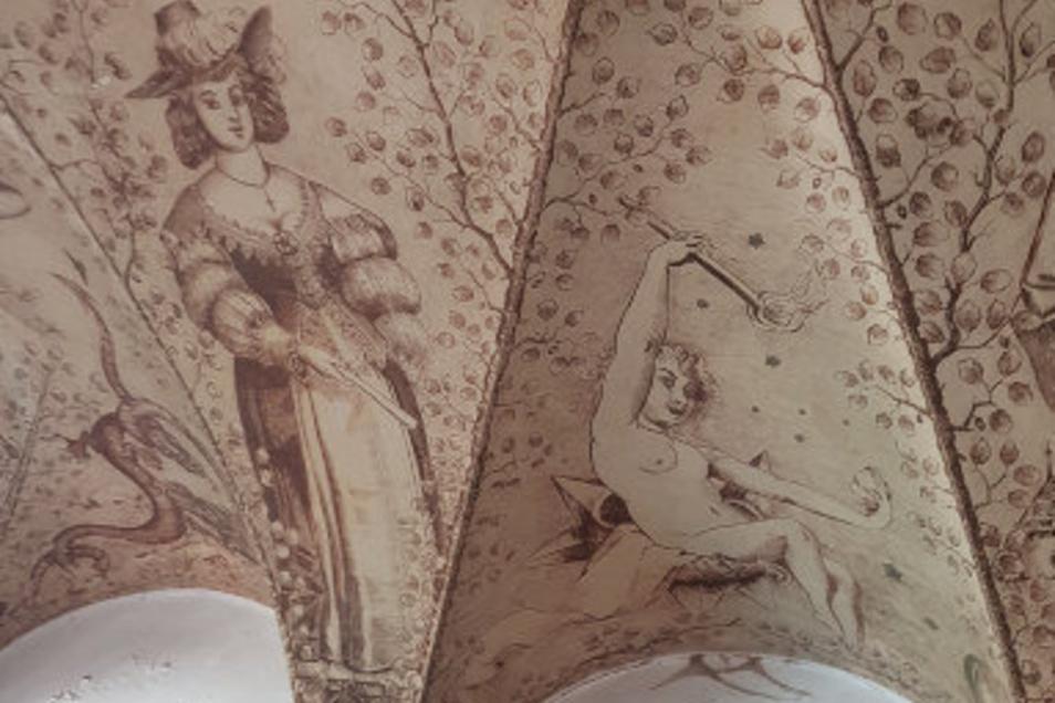 Diese Wandmalerei sahen die Investoren auf ihrer Radtour durch ein kaputtes Fenster von der Brunnenstraße aus.