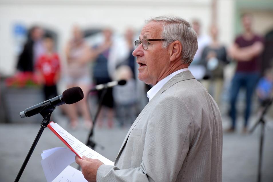 Stadtrat Heinz Pingel hielt die Festrede.